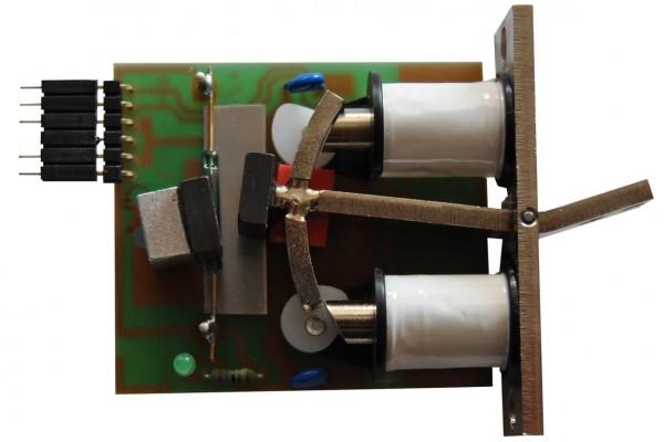 Registerschalter mit selbststellender Wippe