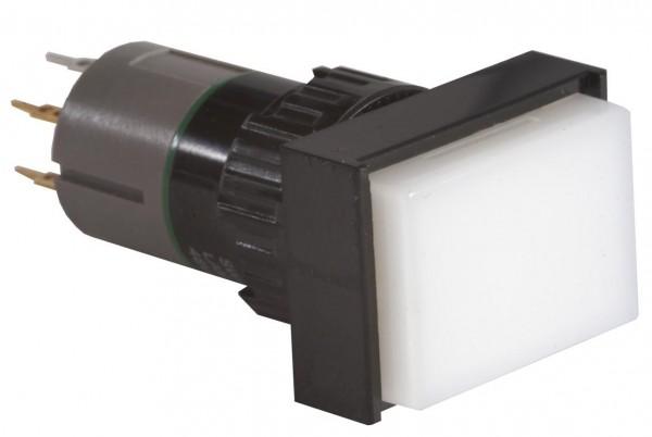 Leuchtdrucktaster rechteckig 18x24mm