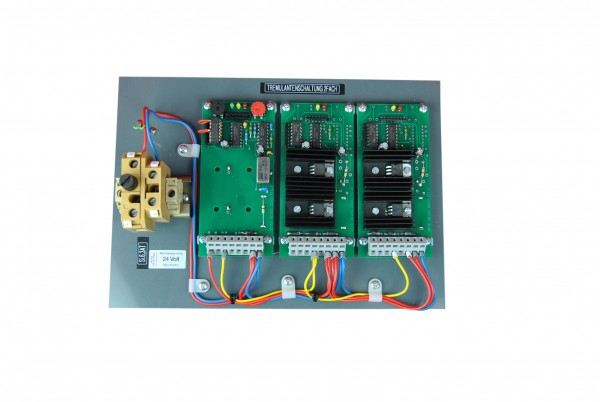 Control card for two tremolo magnets